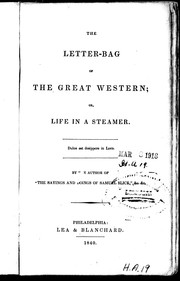 The letter bag of the Great Western, or, Life in a steamer PDF