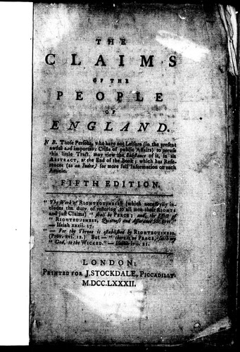 The claims of the people of England