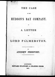 The case of the Hudson's Bay Company by Andrew Freeport