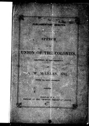 Speech on the union of the colonies, delivered in the Assembly PDF