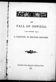 The fall of Oswego (14th August, 1756)