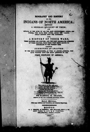 Biography and history of the Indians of North America