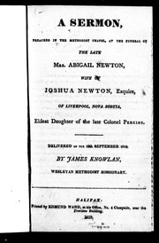 A sermon, preached in the Methodist chapel, at the funeral of the late Mrs. Abigail Newton PDF