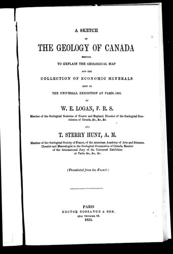 Download A sketch of the geology of Canada