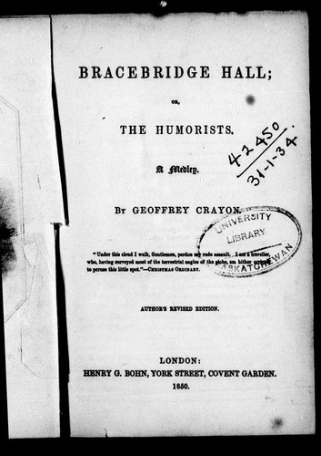 Download Bracebridge Hall, or, The humorists