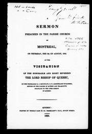A sermon preached in the parish church of Montreal, on Thursday, the 9th of August, 1832 PDF