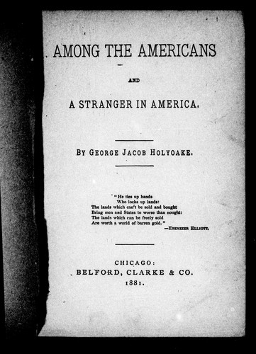 Download Among the Americans and a stranger in America