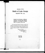 Account of the battle of Lake George, September 8th, 1755 by Morris Patterson Ferris