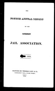 The fourth annual report of the Quebec Jail Association PDF
