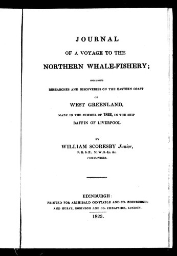 Download Journal of a voyage to the northern whale-fishery