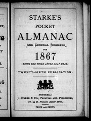 Starke&#39;s pocket almanac and general register for 1867 by 