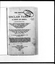 The history of the Sinclair family in Europe and America for eleven hundred years PDF