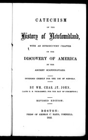 Catechism of the history of Newfoundland by William Charles St. John