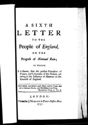 A sixth letter to the people of England, on the progress of national ruin PDF