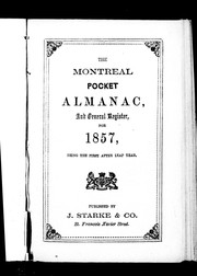 The Montreal pocket almanac and general register for 1857 by 