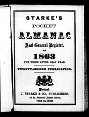 Starke&#39;s pocket almanac and general register for 1863 by 