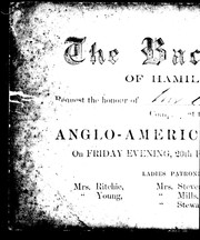 The Bachelors of Hamilton request the honour of Mr. Harris' [company a]t the Anglo-American H[otel] on Friday evening, 20th Feb., 1857, at 9 o' clock ... PDF