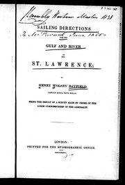 Sailing directions for the Gulf and River of St. Lawrence PDF