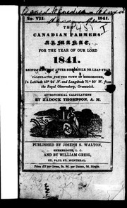 The Canadian farmers' almanac for the year of Our Lord 1841 PDF