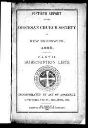 Fiftieth report of the Diocesan Church Society of New Brunswick, 1885