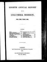 Eighth annual report of the Columbia Mission for the year 1866 by Columbia Mission