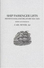 Ship Passenger Lists by Carl Boyer