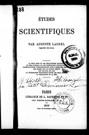 Études scientifiques by Auguste Laugel