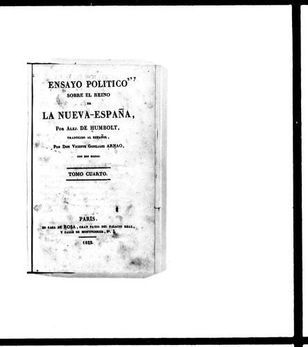 Download Ensayo político sobre el reino de la Nueva-España