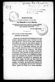 Discours prononcé le mercredi, 18 juillet 1855 par lHonorable P.-J.-O. Chauveau