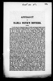 Affidavit of Maria Monk's mother by Isabella Mills