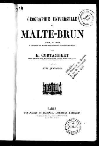 Download Géographie universelle de Malte-Brun