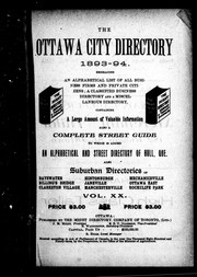 The Ottawa city directory, 1893-94 by