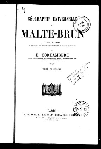 Download Géographie universelle de Malte-Brun