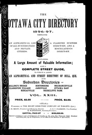 The Ottawa city directory, 1896-97 by