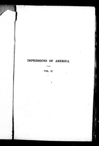 Download Impressions of America during the years 1833, 1834, and 1835