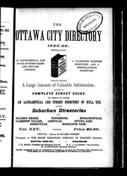 The Ottawa city directory, 1898-99 by