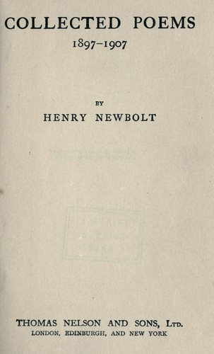 Collected poems, 1897-1907