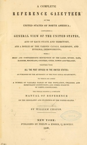 Download A complete reference gazetteer of the United States of North America