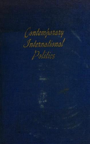 Contemporary international politics