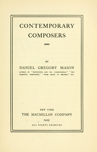 Download Contemporary composers