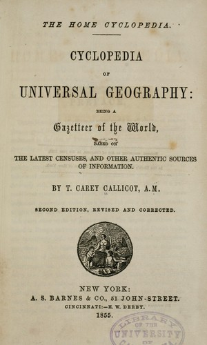 Download Cyclopedia of universal geography
