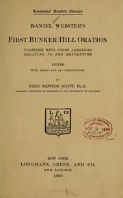 Daniel Webster's first Bunker Hill oration PDF