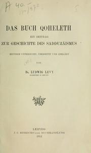 Das Buch Qoheleth
