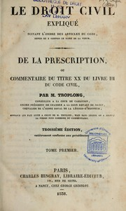 De la prescription by Raymond Théodore Troplong