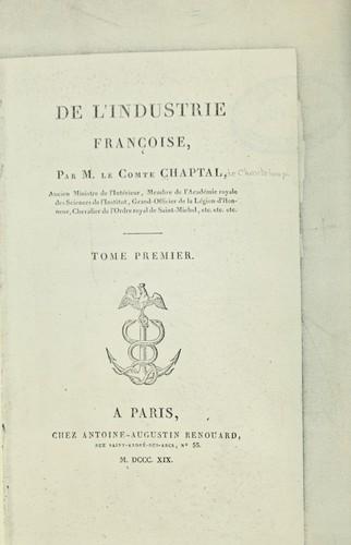De l'industrie françoise