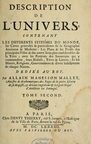 Description de l&#39;univers by Allain Manesson Mallet