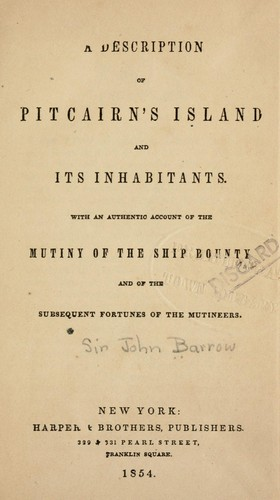… A description of Pitcairn's island and its inhabitants.