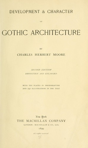 Download Development & character of Gothic architecture