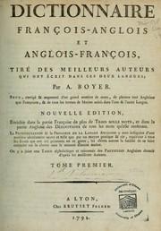 Dictionnaires françois-anglois et anglois-françois