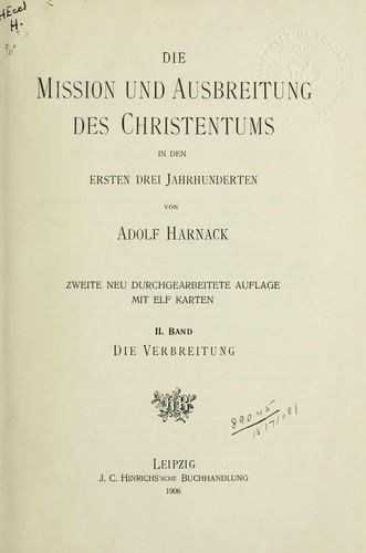 Die Mission und Ausbreitung des Christentums in den ersten drei Jahrhunderten